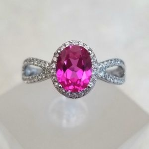 HOST PICK 💖 1.75ct Lab Created Pink Sapphire Ring